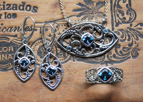 london blue topaz sterling silver jewelry collection