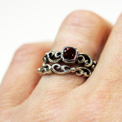 handmade-ethical-Mini-Water-Swirl-Set-in-Red-Garnet-03