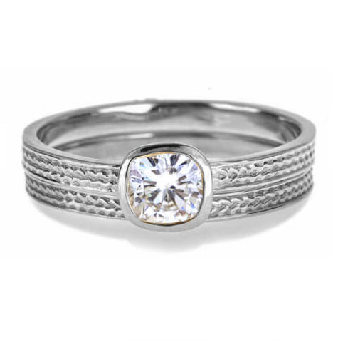 moissanite engagement rings white gold