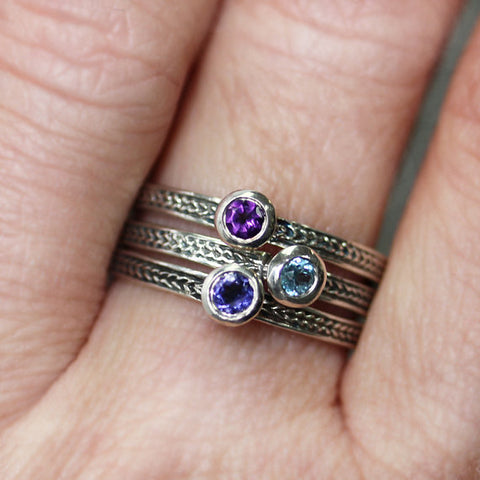 Birthstone stacking rings-handmade-ethnic3