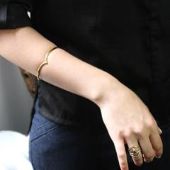 14k Gold Arrow Bangle-handmade-ethnic2
