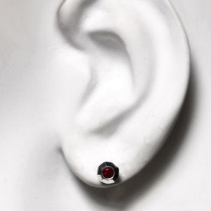 handmade-ethical-Tiny-Ruby-Faceted-Silver-Stud-03