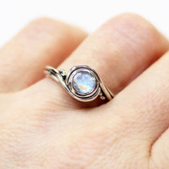 unique engagement ring moonstone
