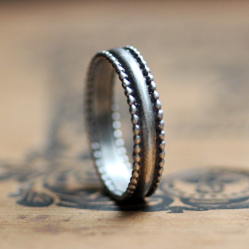silver-beaded-wedding-ring
