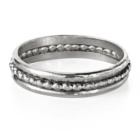 oxidized-silver-wedding-band