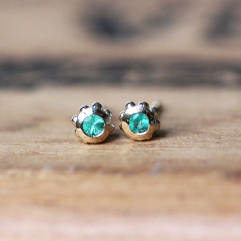 Emerald Stud Earrings - Wrought