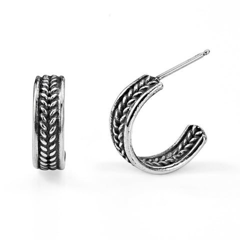 small-silver-hoop-earrings-braided