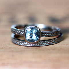 handmade-ethnic-White-Gold-Cushion-Aquamarine-Wheat-Braid-Ring-03