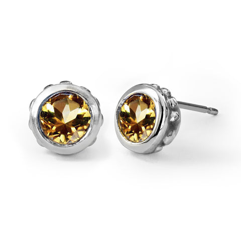 citrine-stud-earrings