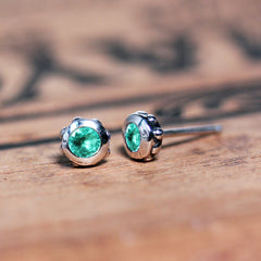 3mm Stud Earrings - More Stones Available