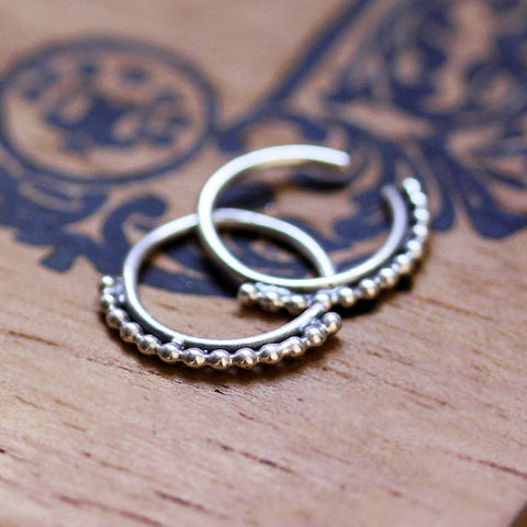 handmade-ethnic-Small-Silver-Huggie-Hoops