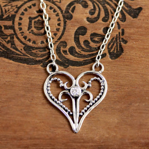 artisan heart necklace