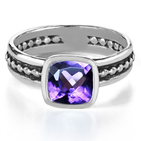 silver-beaded-amethyst-ring