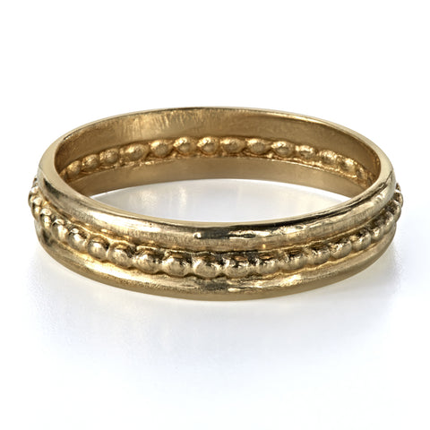 gold-beaded-wedding-band