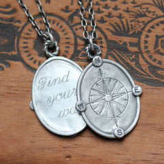 handmade-ethical-Engraved-Compass-Rose-Necklace