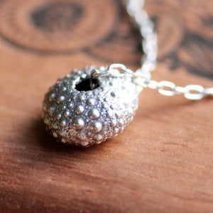 handmade-ethical-Silver-Sea-Urchin-Necklace