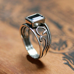 handmade-ethical-Emerald-Cut-London-Blue-Topaz-Silver-Vine-Ring-02