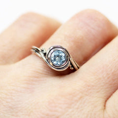 Aquamarine ring sterling silver-handmade-ethnic2