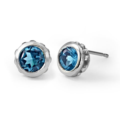 london-blue-topaz-stud-earrings-silver