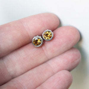 handmade-ethical-Citirine-Wrought-Stud-Earrings-02