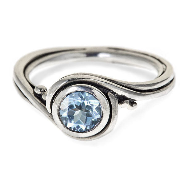 aquamarine ring sterling silver