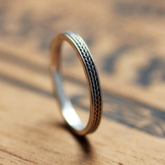 Braided wedding band-handmade-ethnic2