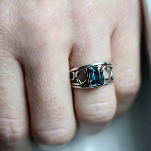 handmade-ethical-Emerald-Cut-London-Blue-Topaz-Silver-Vine-Ring-03