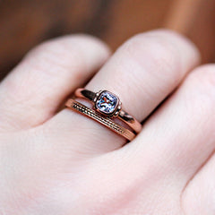 Braided rose gold ring-handmade-ethnic2