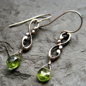 handmade-ethical-Wrought-Swirl-Peridot-Earrings