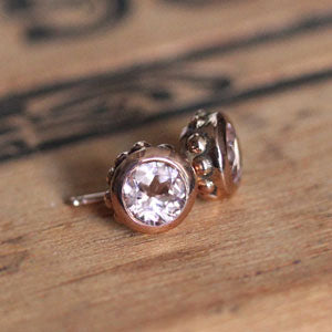 handmade-ethical-Rose-Gold-Wrought-Morganite-Stud-Earrings-02