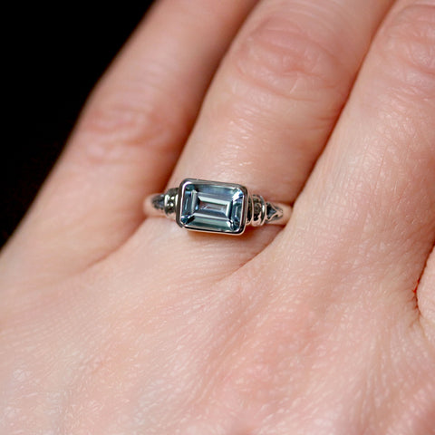 Emerald Cut Aquamarine Ring, Anne Brontë