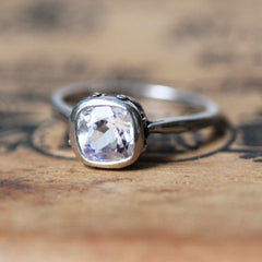Rainbow Moonstone Engagement Ring, Emily Brontë