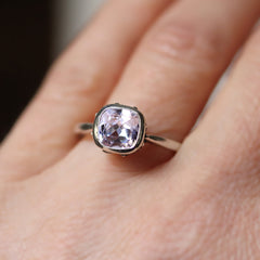 Morganite Engagement Ring Silver, Emily Brontë