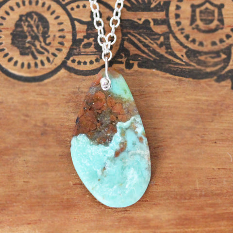 "Campo Frio Turquoise Necklace #4, 17"" length"