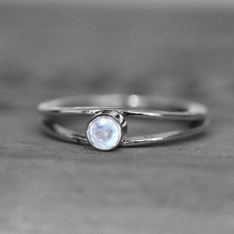 Moonstone Wishes 14K White Gold Ring