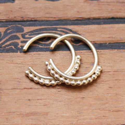 handmade-ethical-14k-Gold-Tiny-Beaded-Huggie-Hoop-Earrings