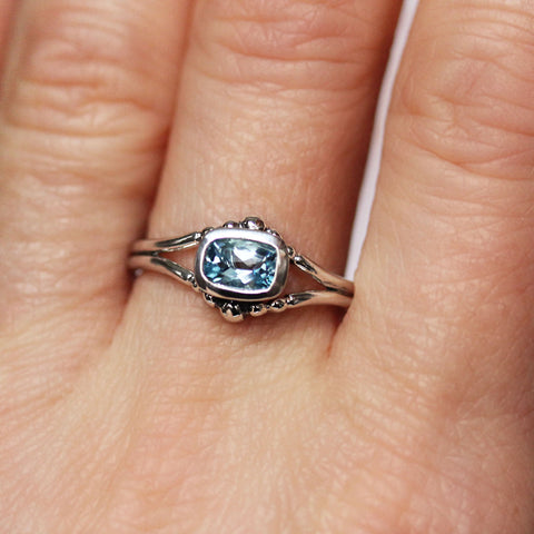 Aquamarine Air Ring - size 7.75