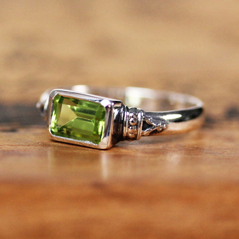 Emerald Cut Peridot Ring, Anne Brontë