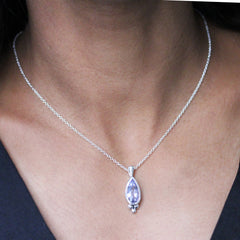 Blue Beryl Teardrop Necklace-LIMITED EDITION