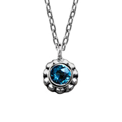 Blossom Flower Necklace - White or Blue Topaz