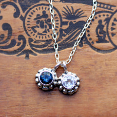 Duo Birthstone Blossom Necklace