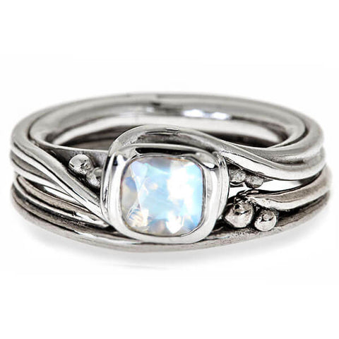 rustic engagement ring moonstone