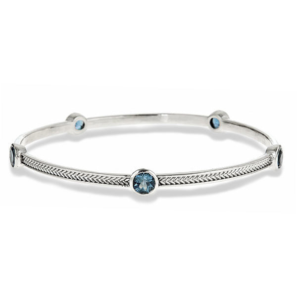 five-stone-silver-wheat-bangle