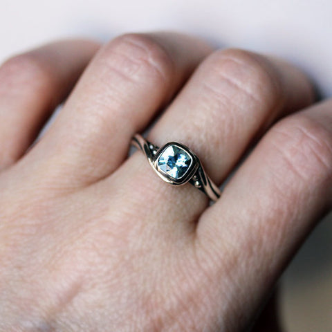 Aquamarine engagement ring-handmade-ethnic2