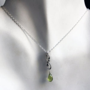handmade-ethical-Wrought-Infinity-Peridot-Droplet-Necklace-03