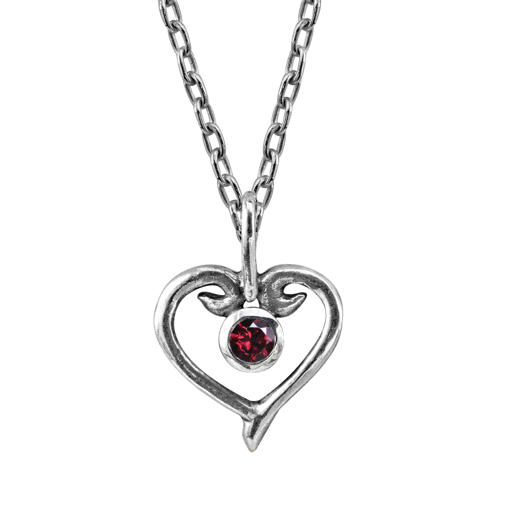ruby-heart-necklace-silver