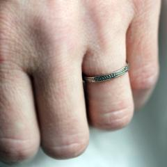 White Gold Thin Wheat Ring-handmade-ethnic.2