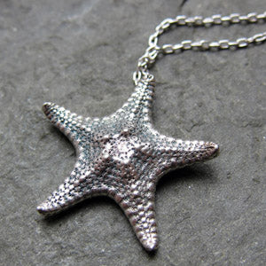handmade-ethical-Starfish-Necklace-in-Recycled-Sterling-Silver