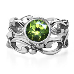 peridot bridal set sterling silver