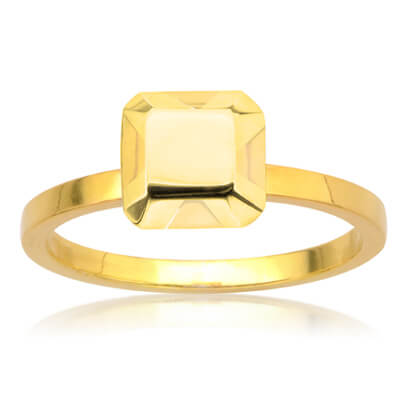 yellow gold non diamond engagement ring